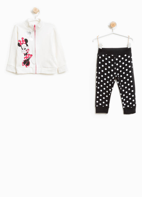 Polka dot Minnie Mouse tracksuit in stretch cotton | OVS