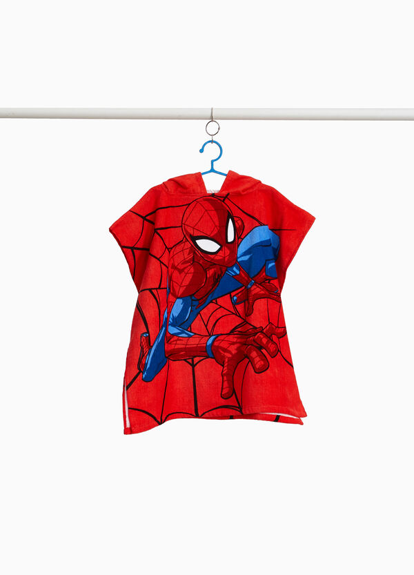 Beach bathrobe with Spiderman pattern