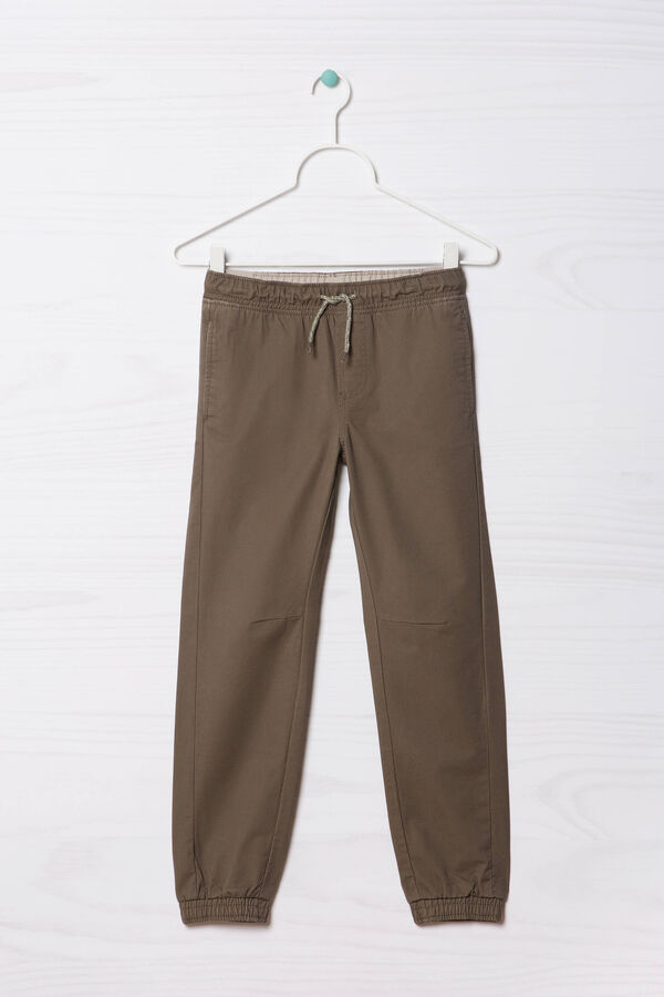 100% cotton joggers with drawstring   OVS