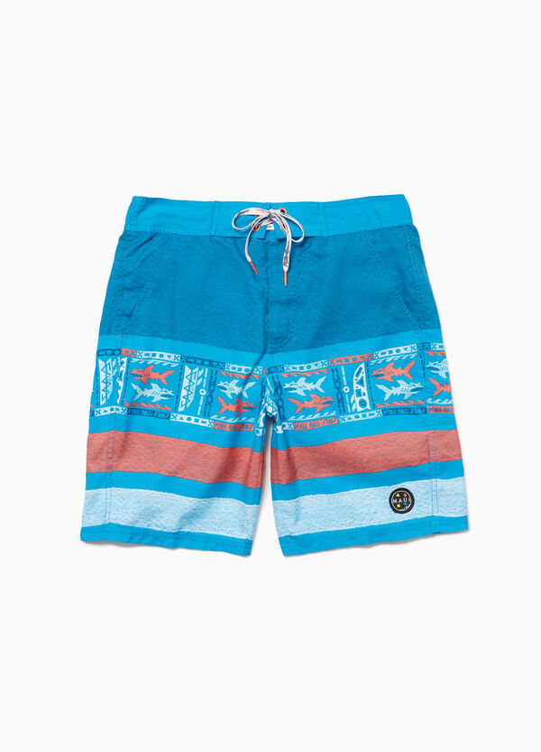 Striped beach shorts by Maui and Sons
