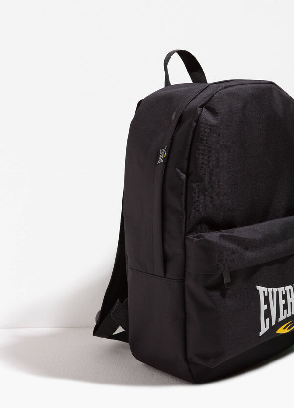 Solid colour backpack with lettering print | OVS