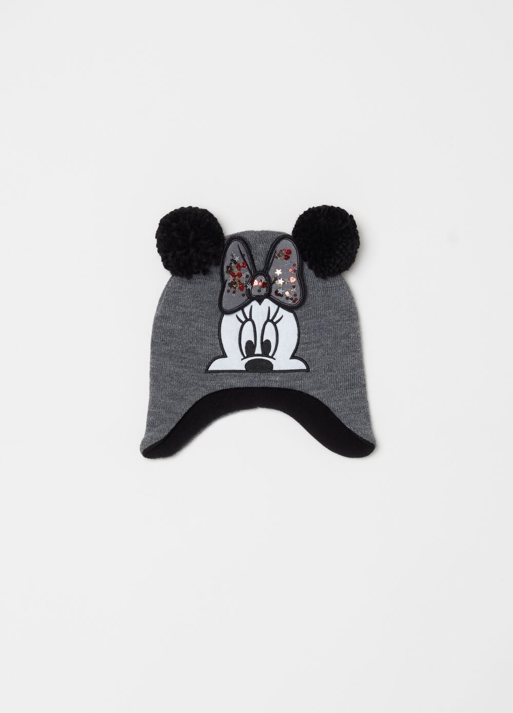 Mélange hat with Disney Minnie Mouse embroidery