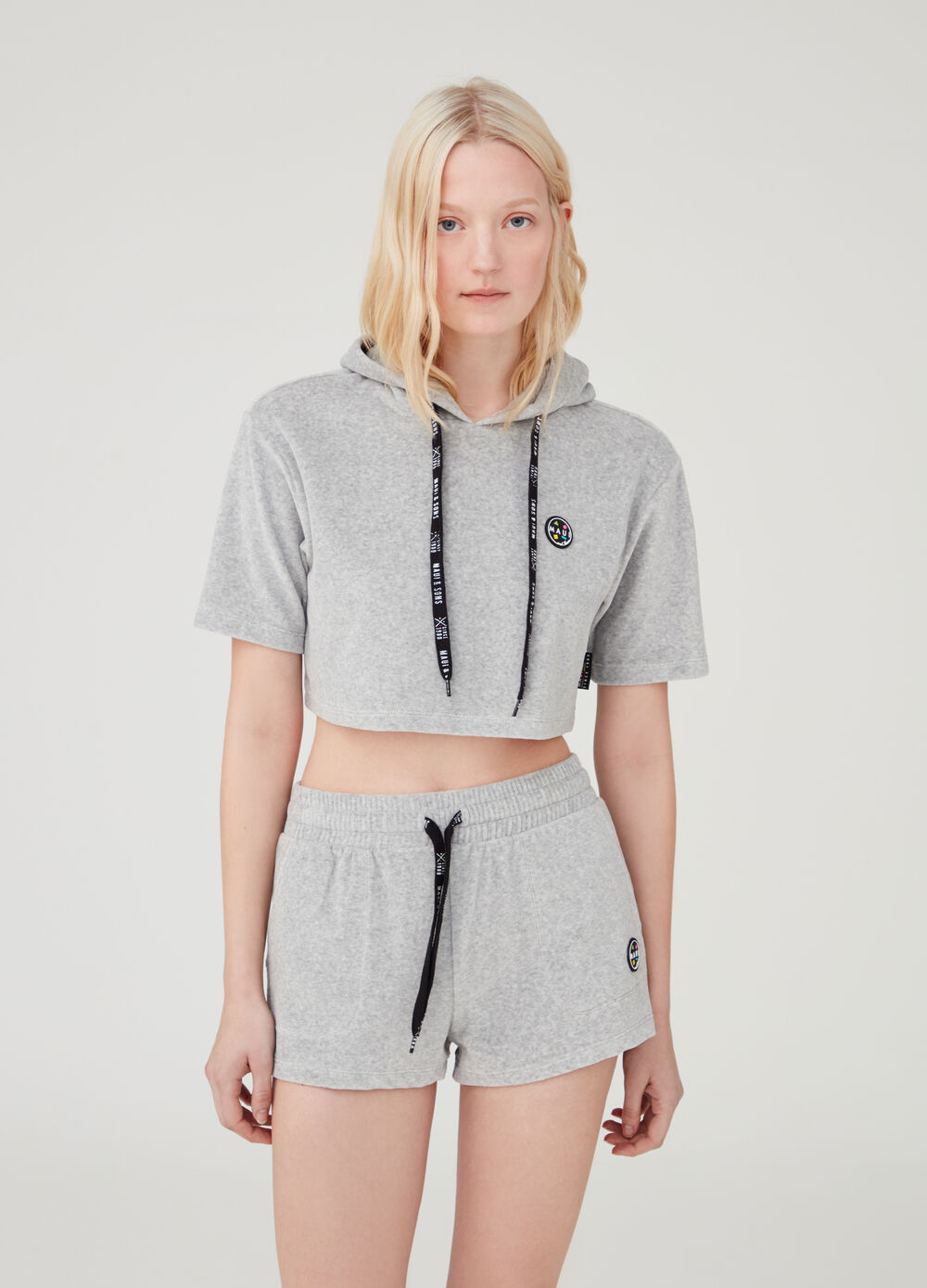 Crop sweatshirt with hood by Maui and Sons