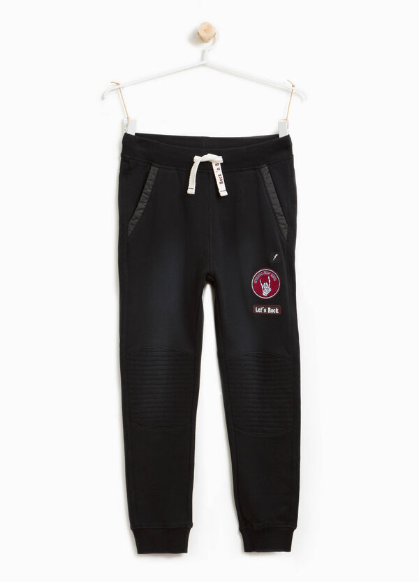 Cotton joggers with patches | OVS