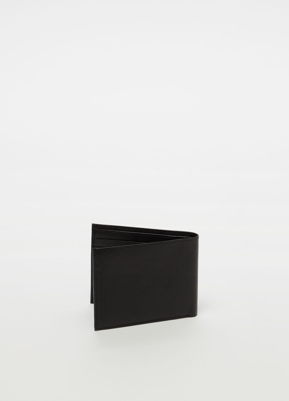 Genuine leather wallet with compartments