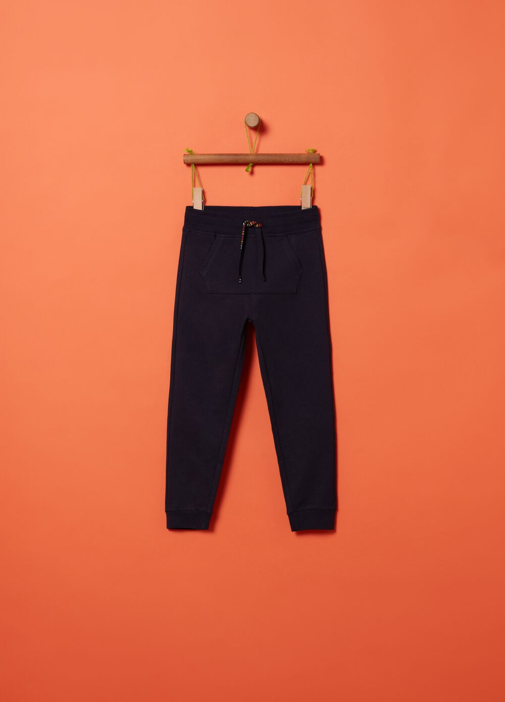 French Terry joggers with drawstring