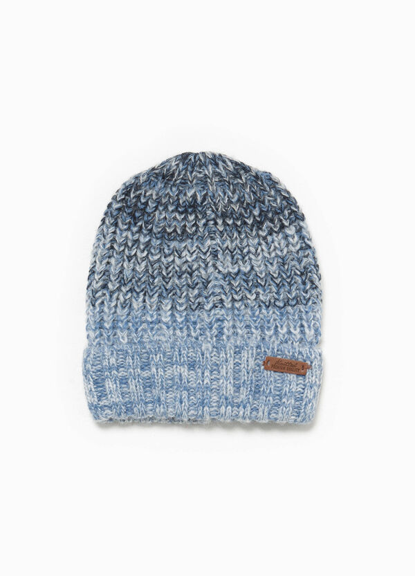 Knitted degradé-effect beanie cap | OVS