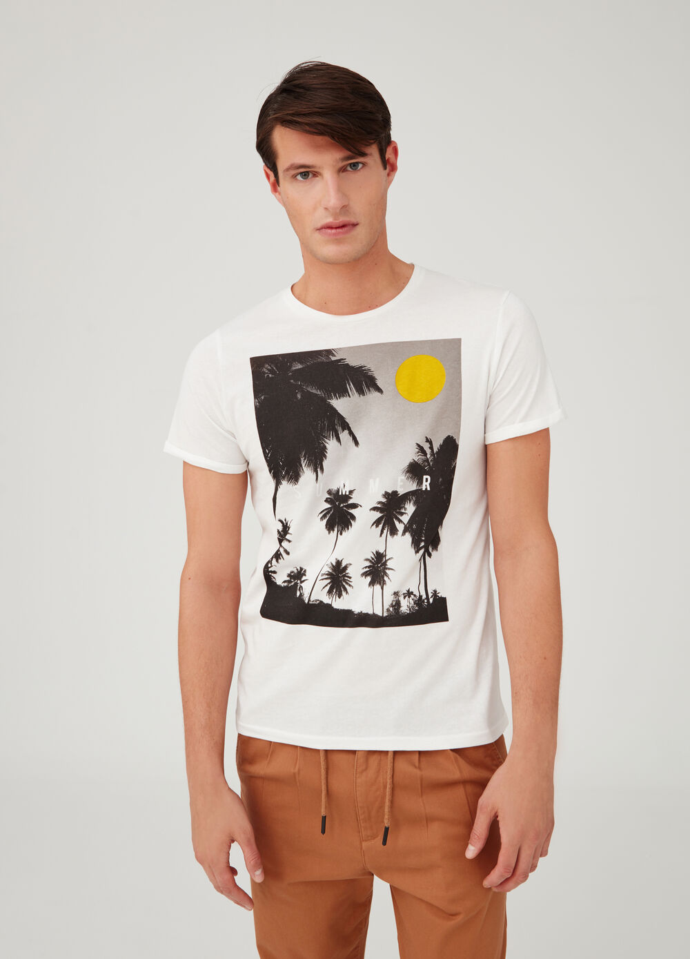 100% cotton T-shirt with photographic print
