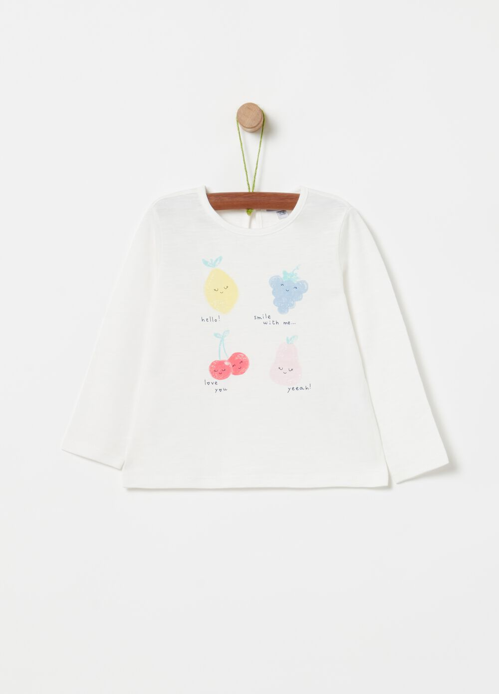 Cotton T-shirt with fruit print
