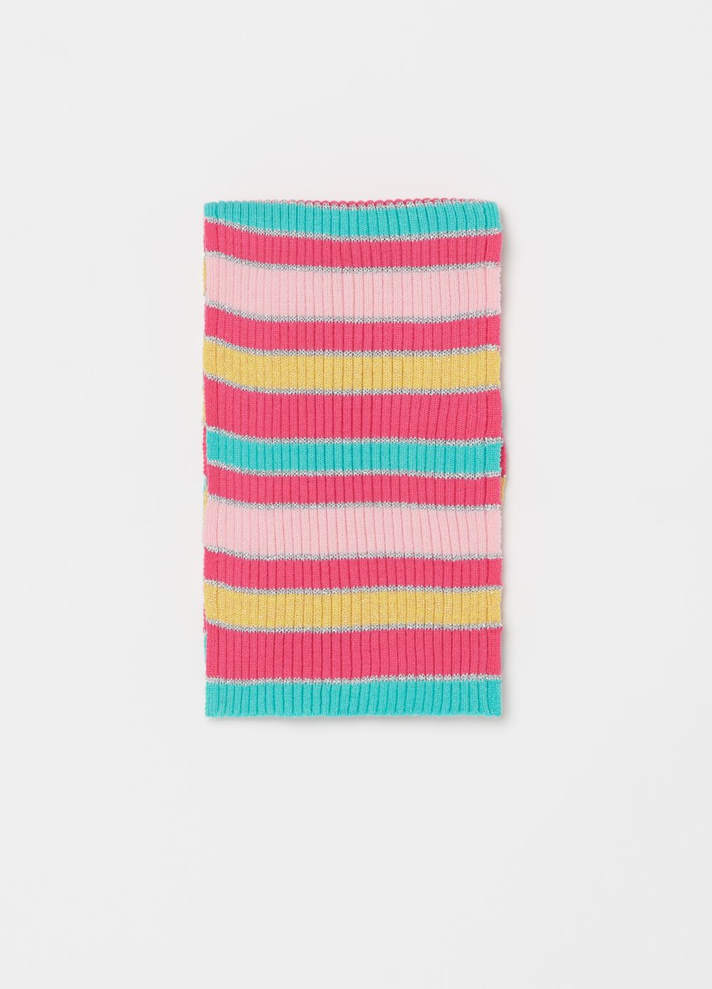 Viscose blend scarf with glitter stripes