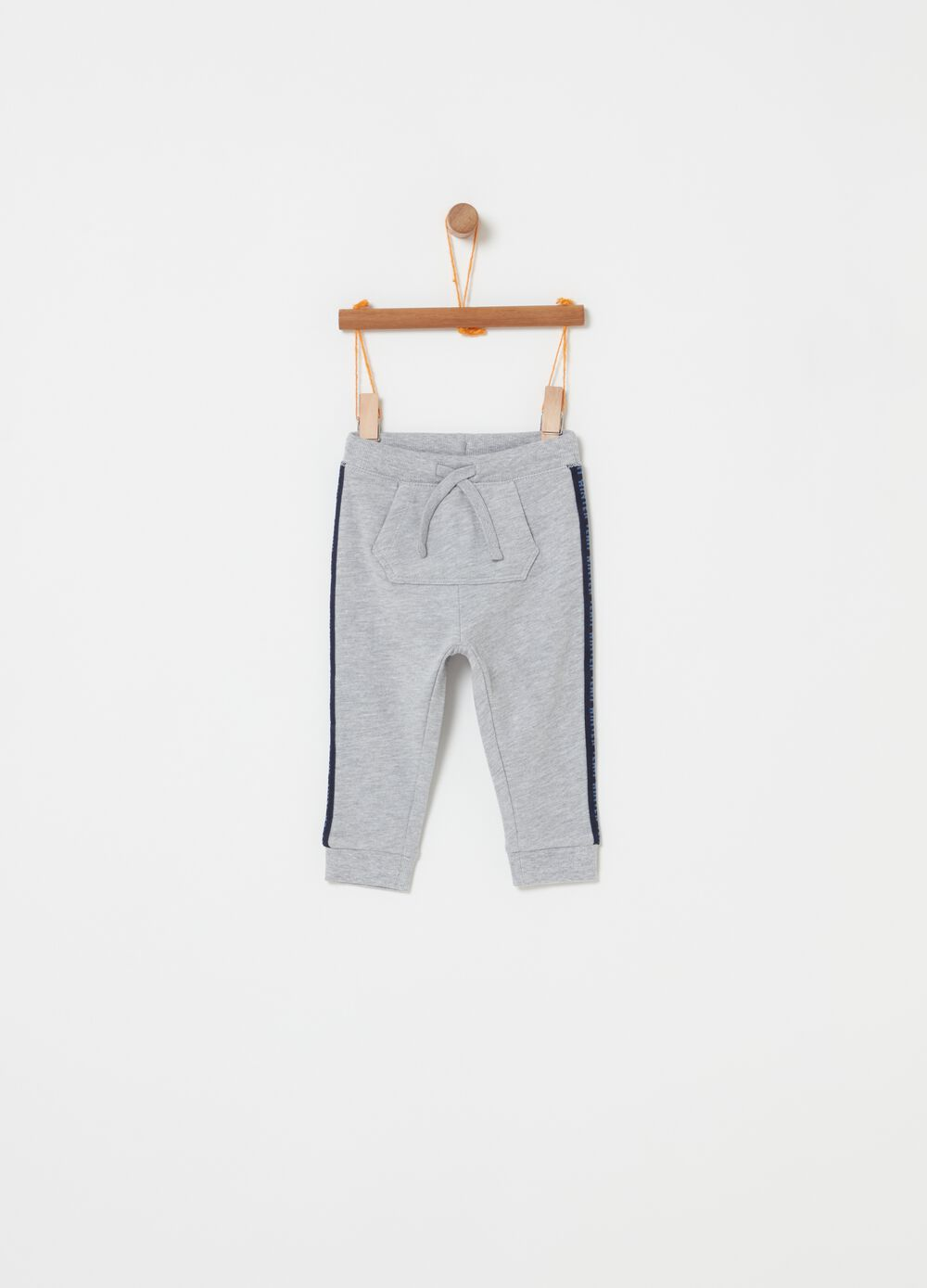 Mélange fleece jogger trousers