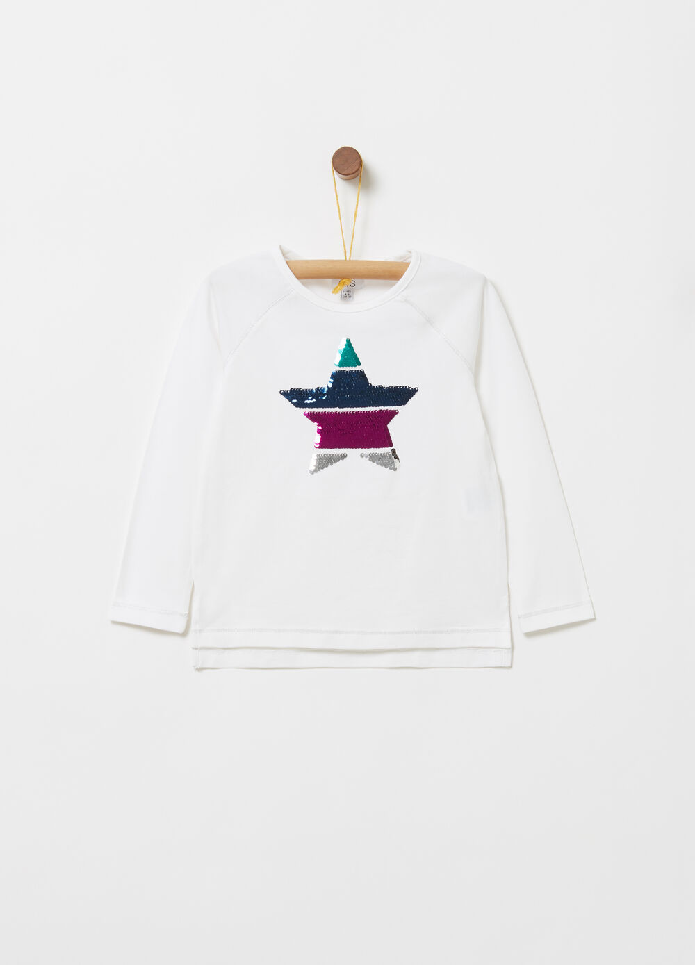 Jersey T-shirt with star sequins