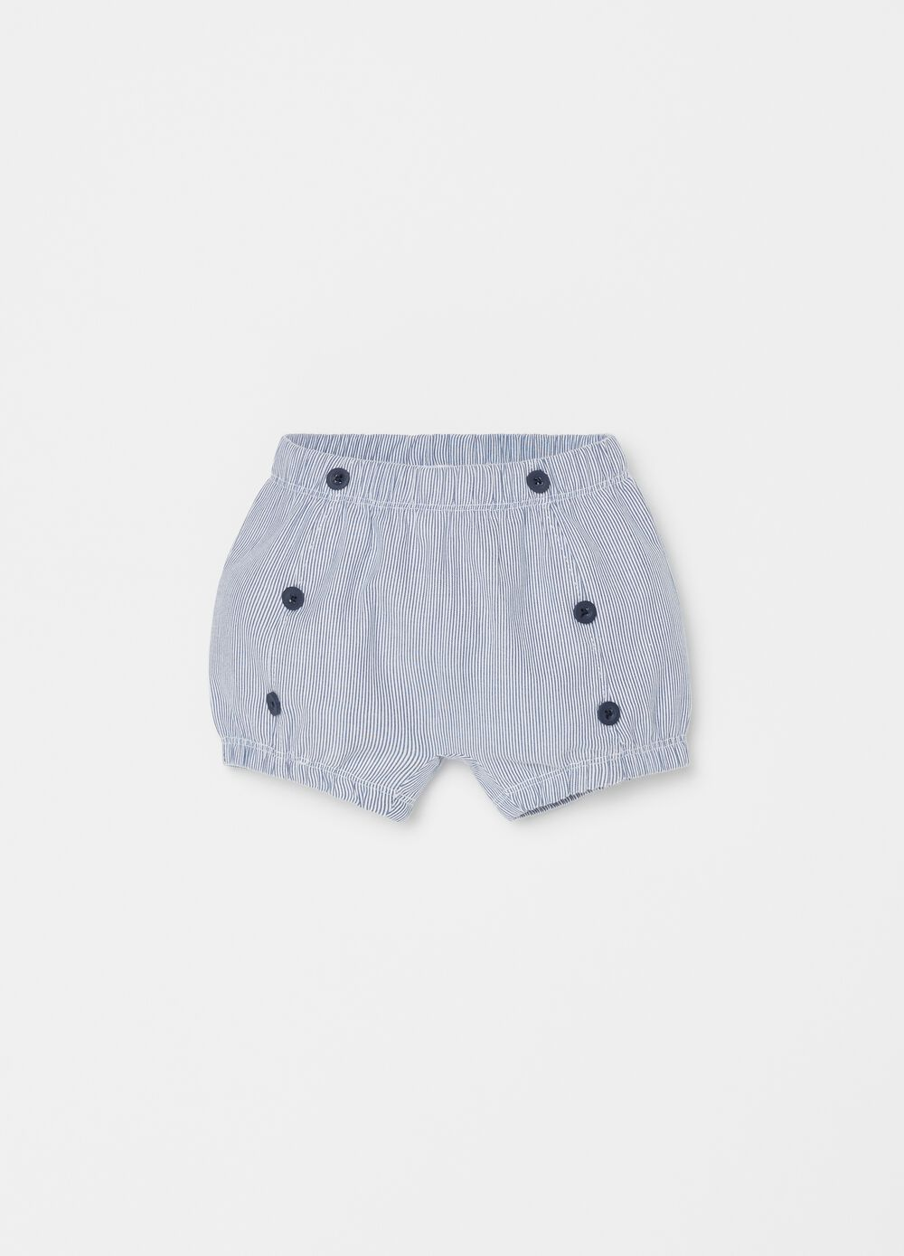 Striped shorts in 100% cotton