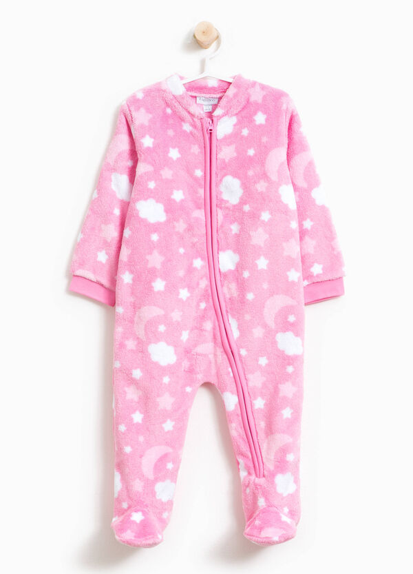 Sleep suit with sky print