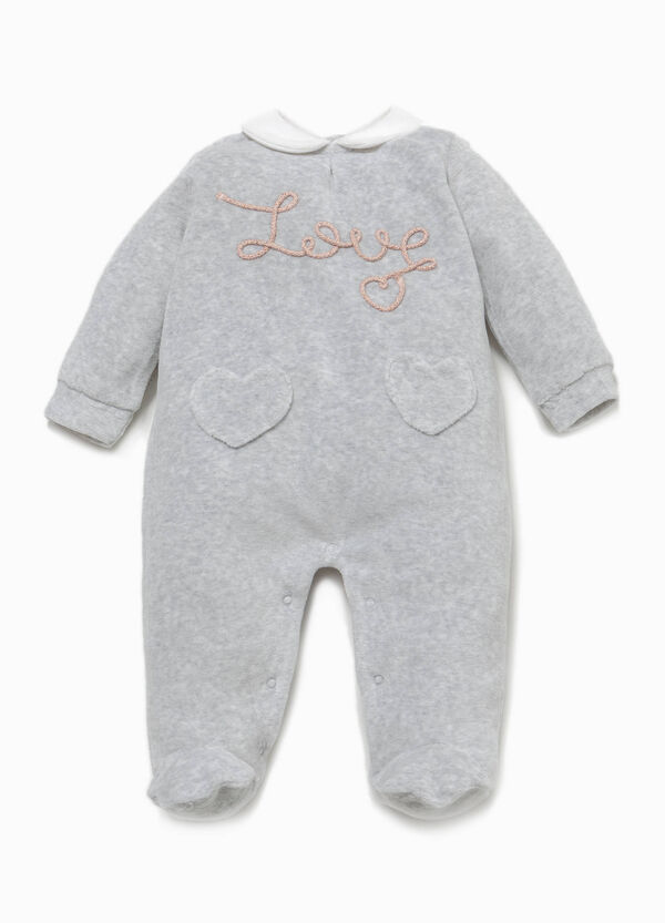 Cotton blend sleepsuit with patch | OVS