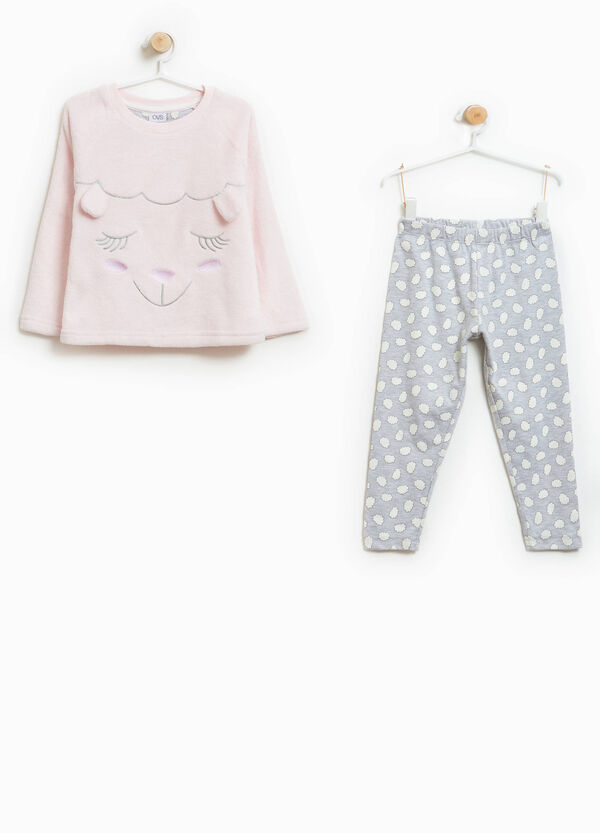 Cotton blend pyjamas with ears and embroidery | OVS