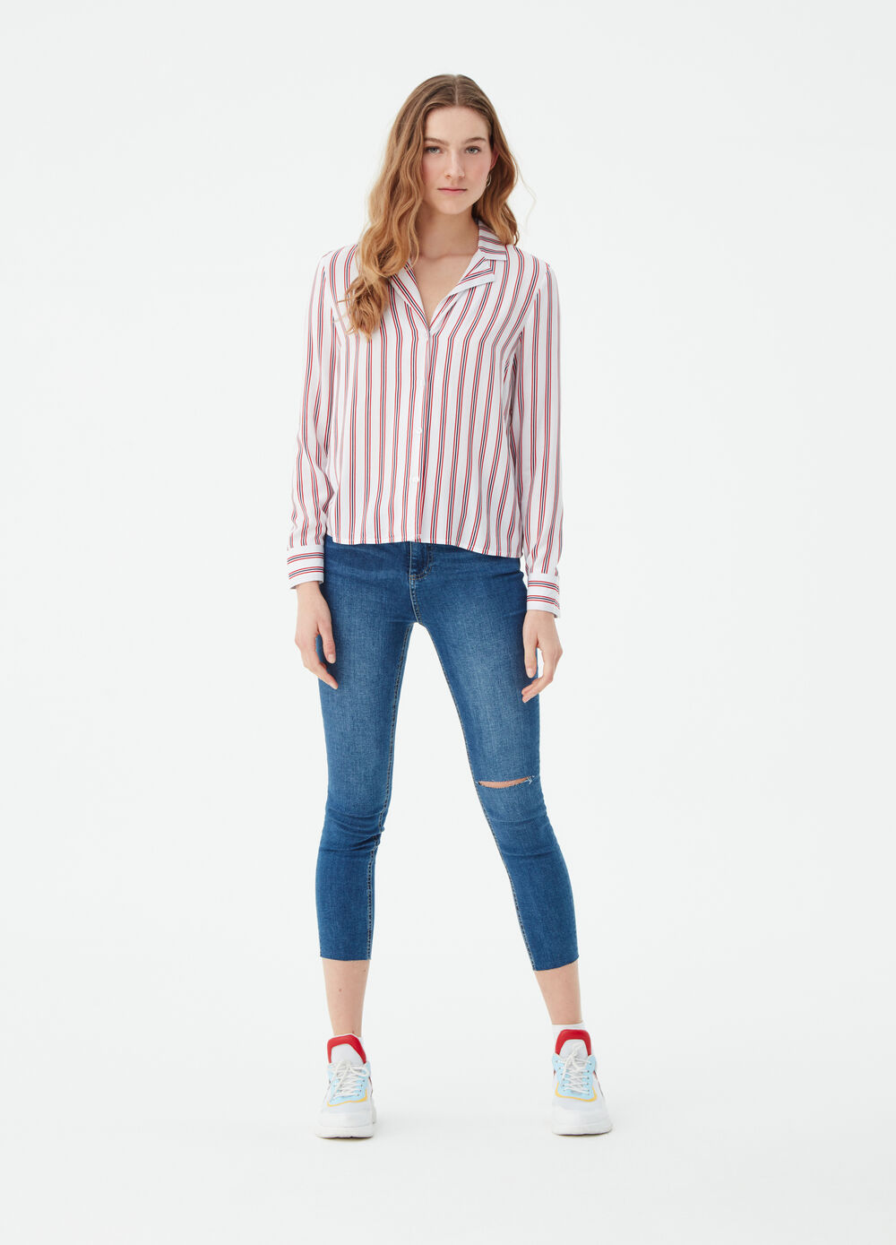 Jeans skinny fit cropped stretch