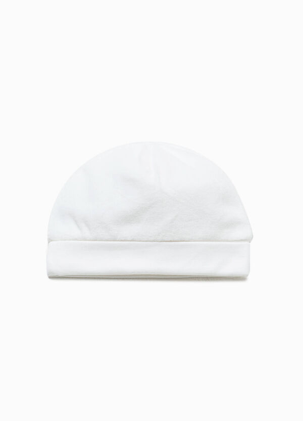 Cotton velour beanie cap | OVS