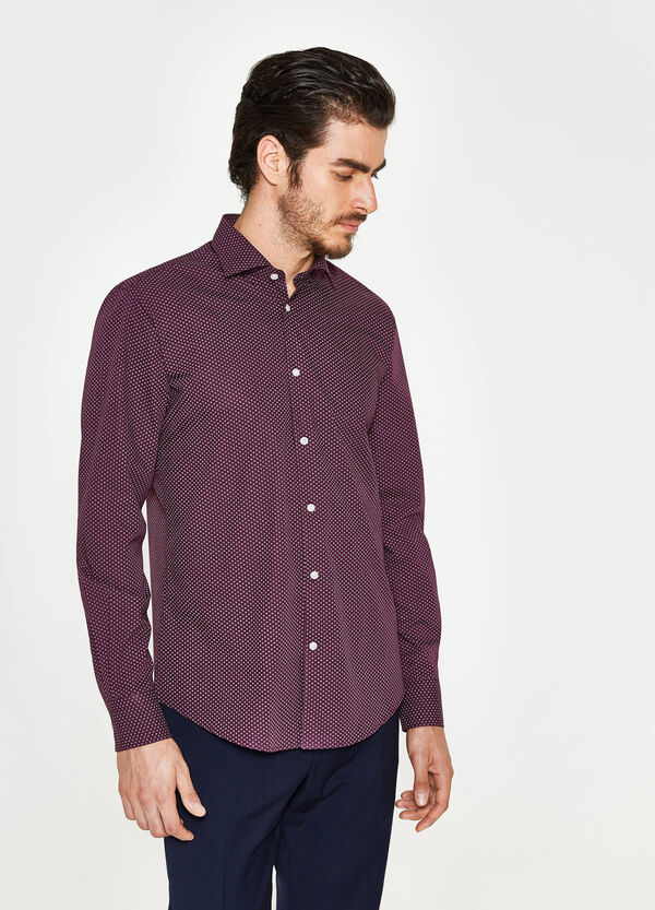 Regular-fit formal geometric shirt