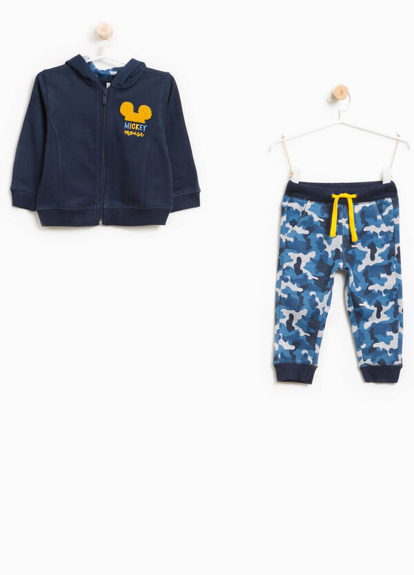 Tuta in cotone camouflage Mickey Mouse