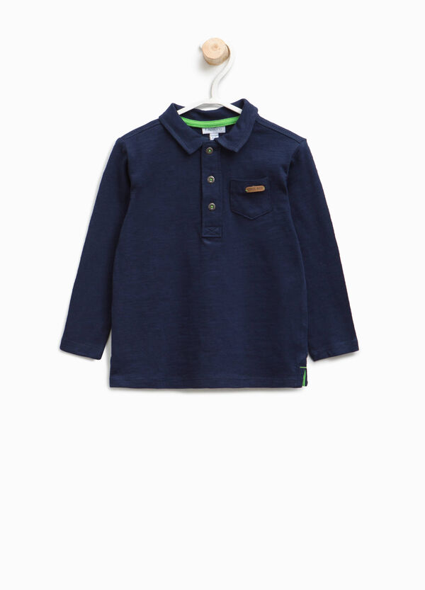 Cotton polo shirt with pocket | OVS