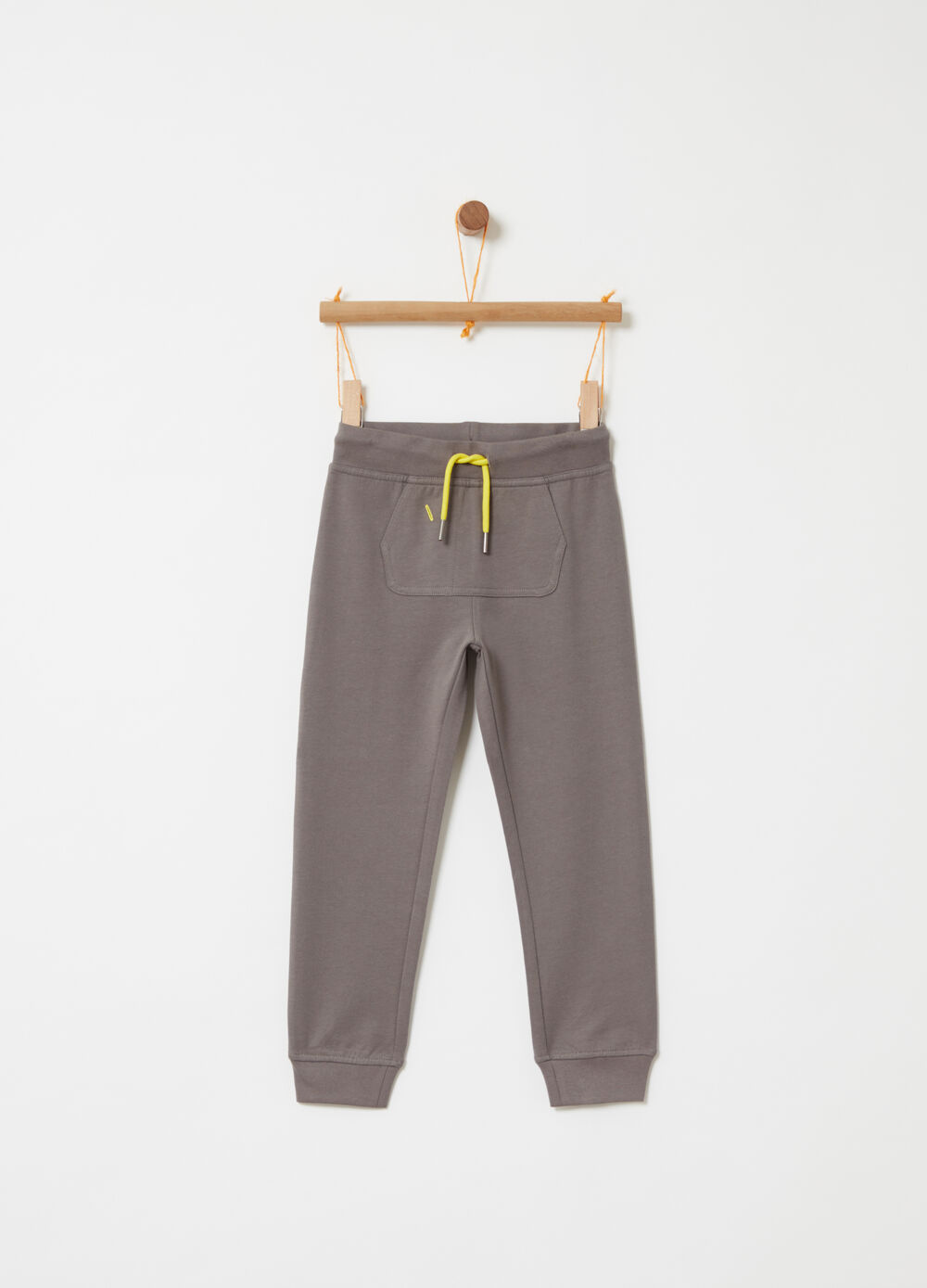 Trousers in lightweight fleece with pockets