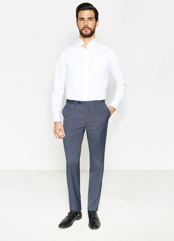Pantaloni regular fit in viscosa stretch | OVS