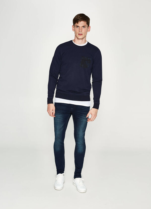Cotton pullover with pocket | OVS
