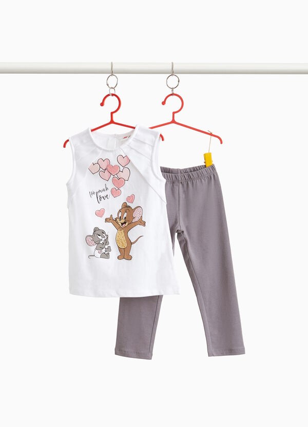Completo in cotone stretch Tom & Jerry