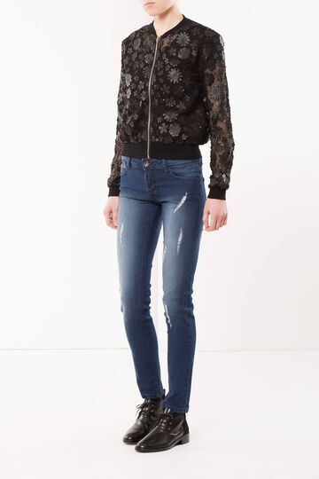 Slim fit, worn out-effect jeans
