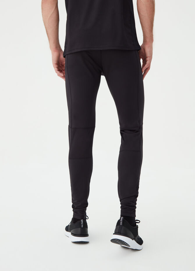 Solid colour stretch gym trousers