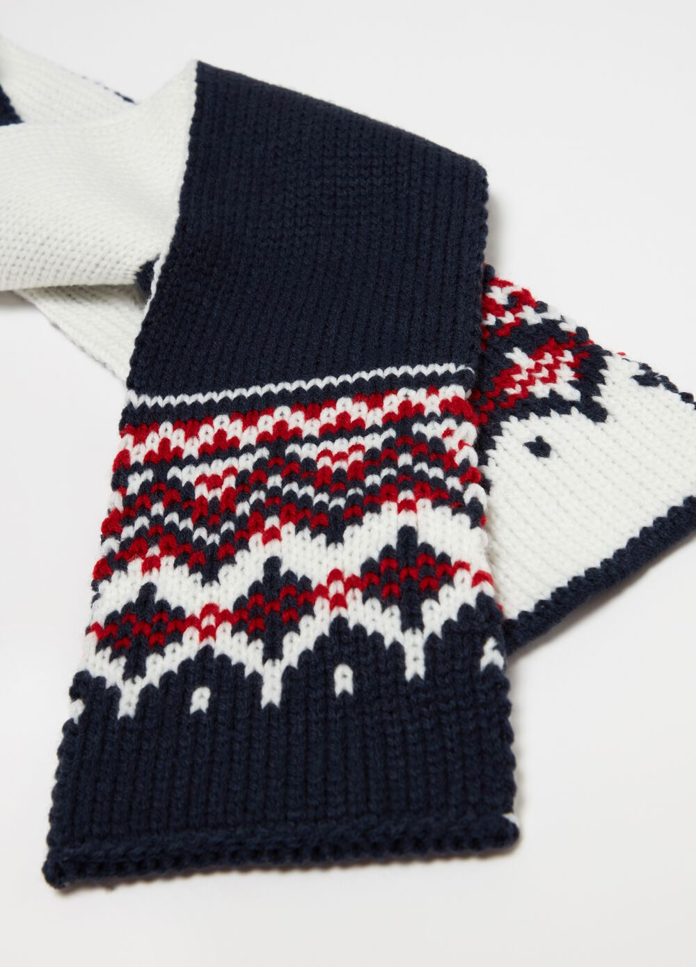 Long knit socks with geometric embroidery