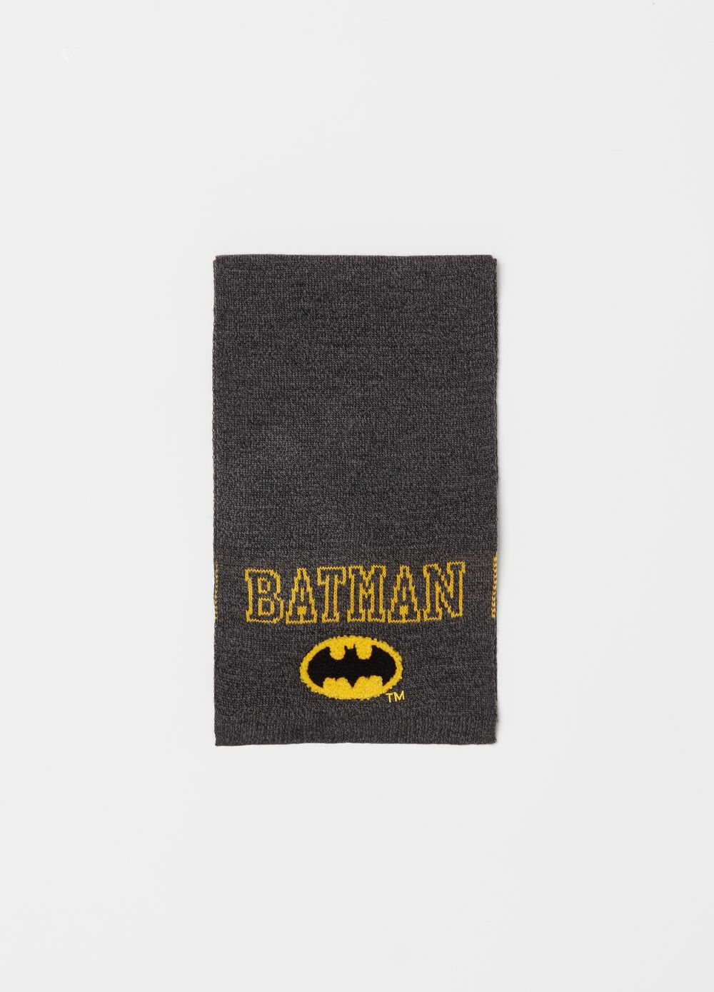 Knitted scarf with Warner Bros embroidery
