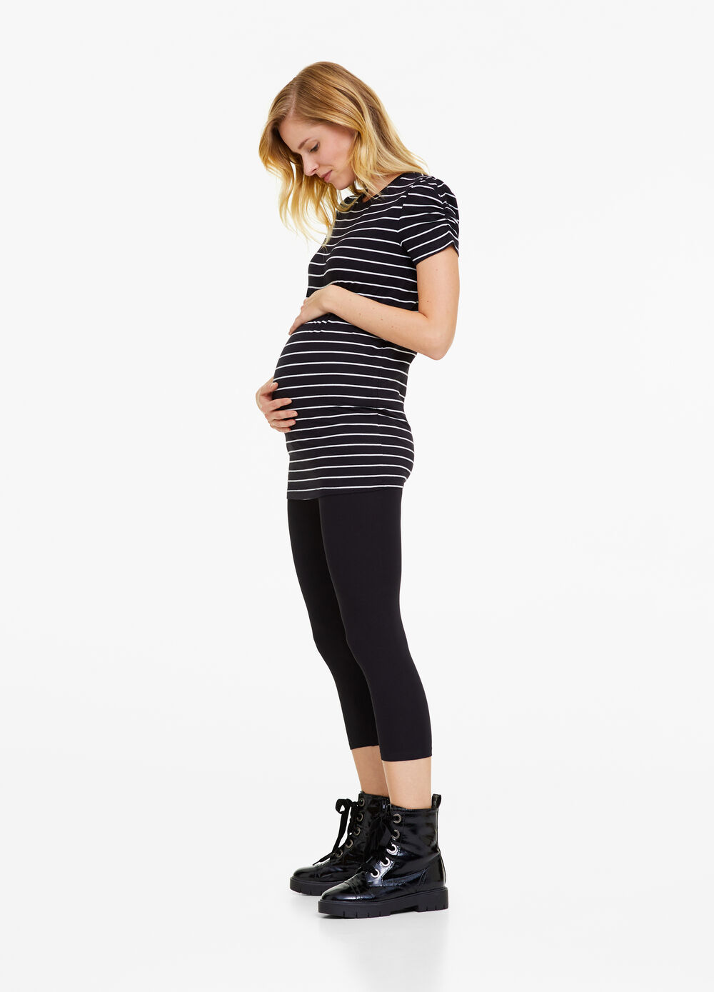 Three-quarter-length stretch cotton MUM leggings