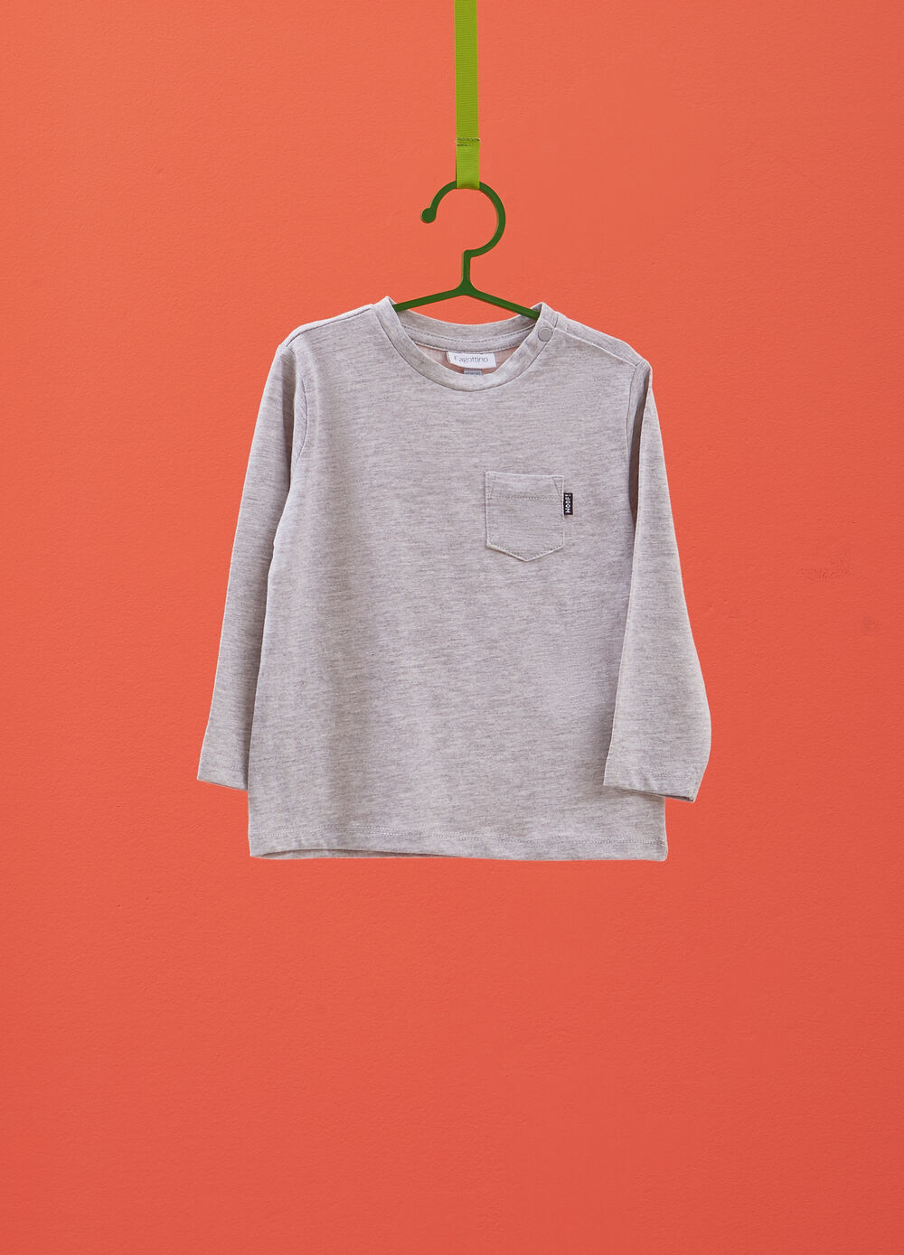 Viscose and cotton T-shirt with pocket