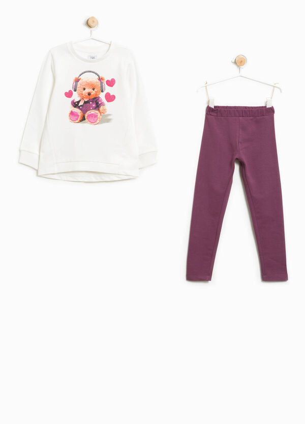 Cotton tracksuit with bear print | OVS