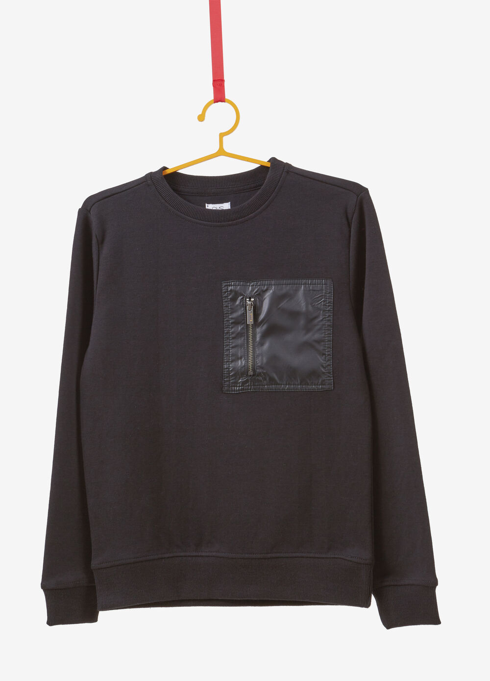 Cotton blend sweatshirt with pocket on the front