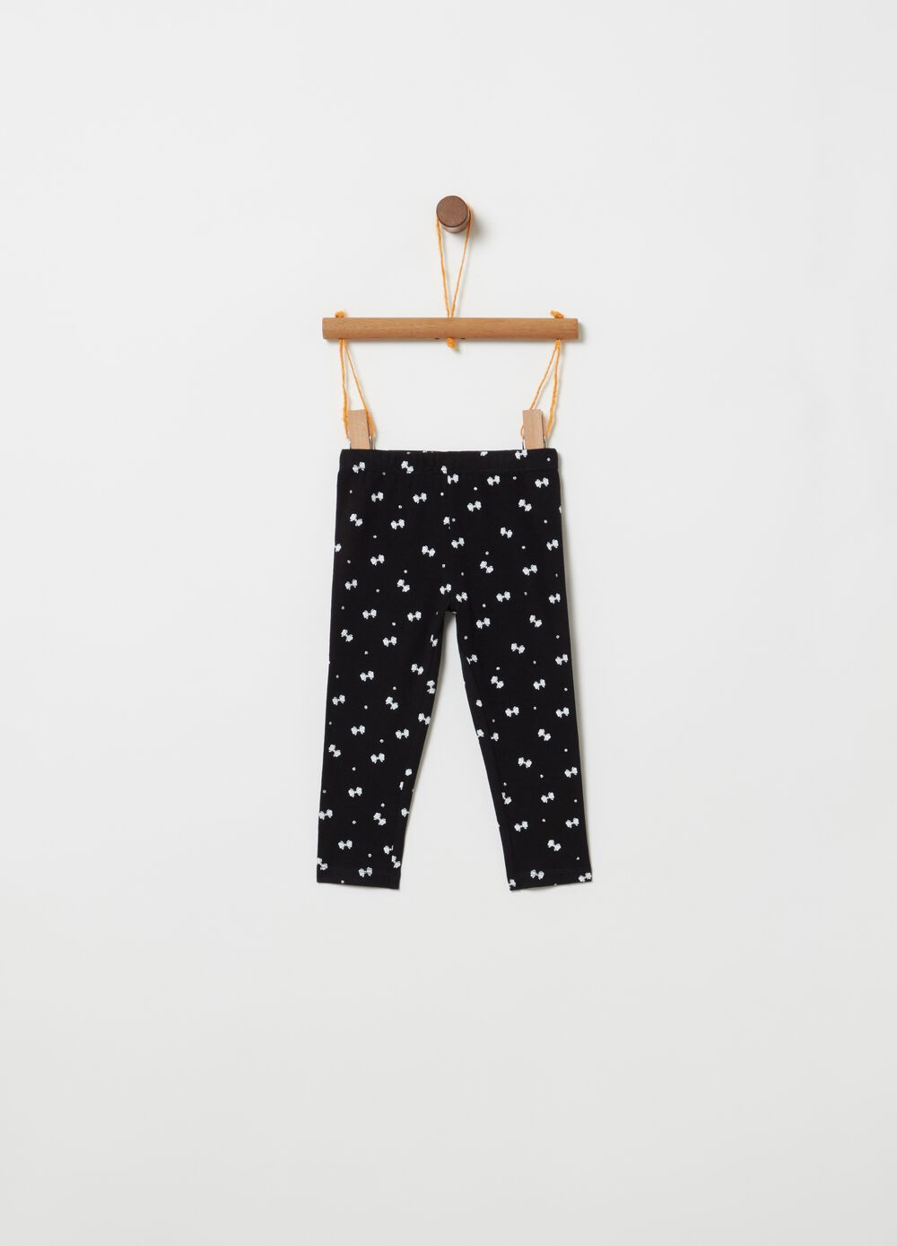 Stretch organic cotton leggings with pattern