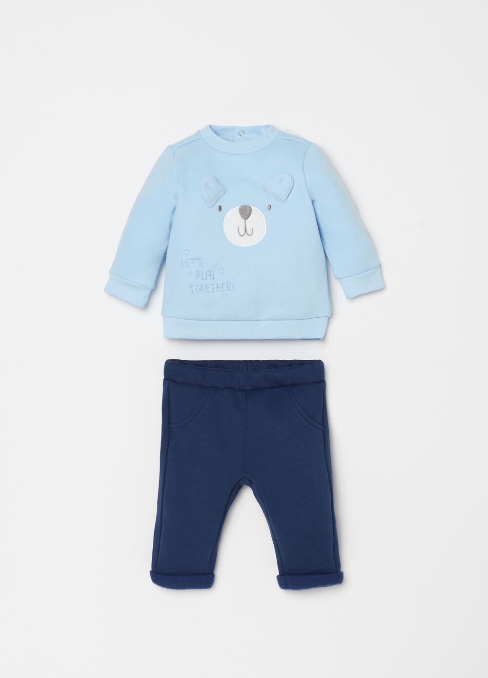 Sweatshirt with embroidery and trousers set