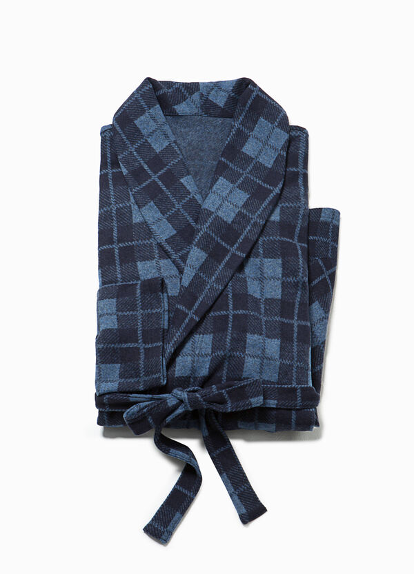 100% cotton tartan dressing gown | OVS