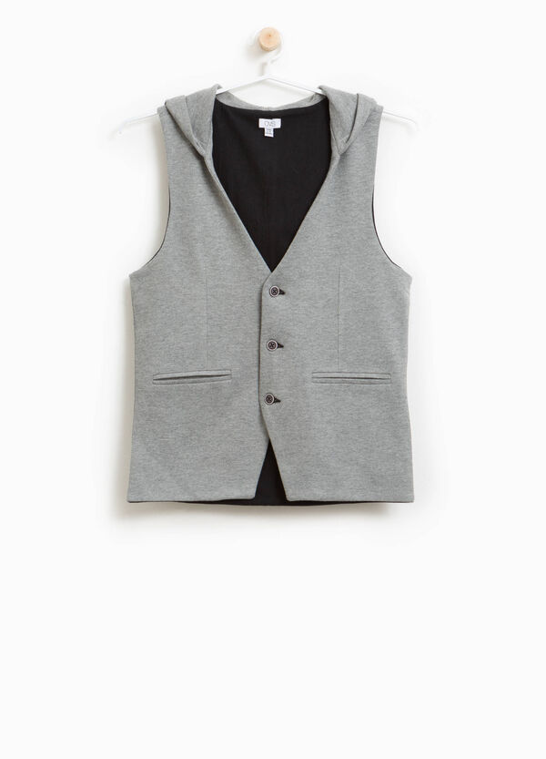 Cotton blend hooded waistcoat | OVS