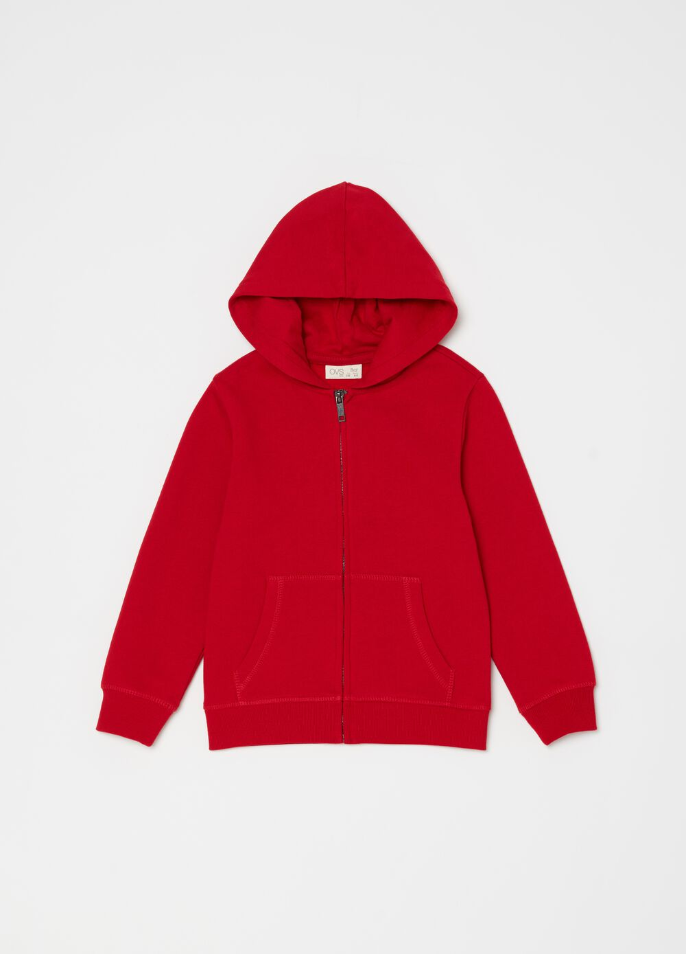 Full-zip sweatshirt with hood and pockets