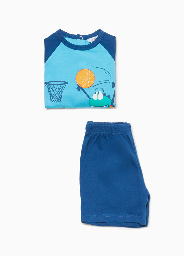 100% cotton basketball monster pyjamas