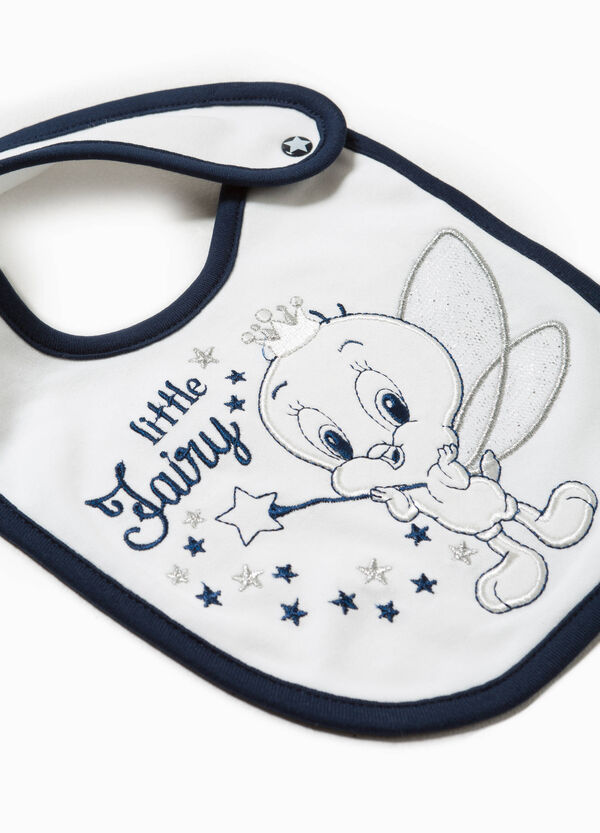100% cotton bib with Tweety Pie embroidery detail on the front. | OVS