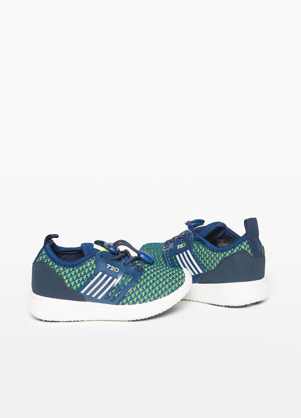 Knitted canvas sneakers with pattern