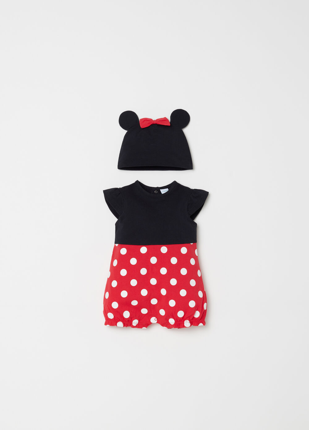 Disney Baby short BCI onesie and hat