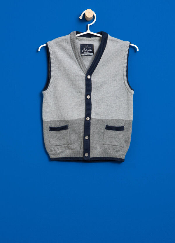 Knitted two-tone gilet | OVS