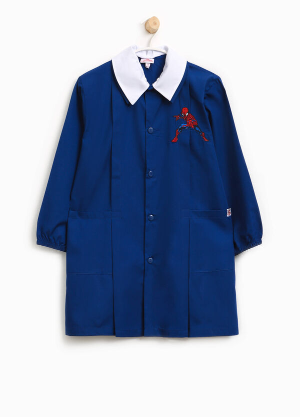 Cotton blend smock with Spiderman patch | OVS