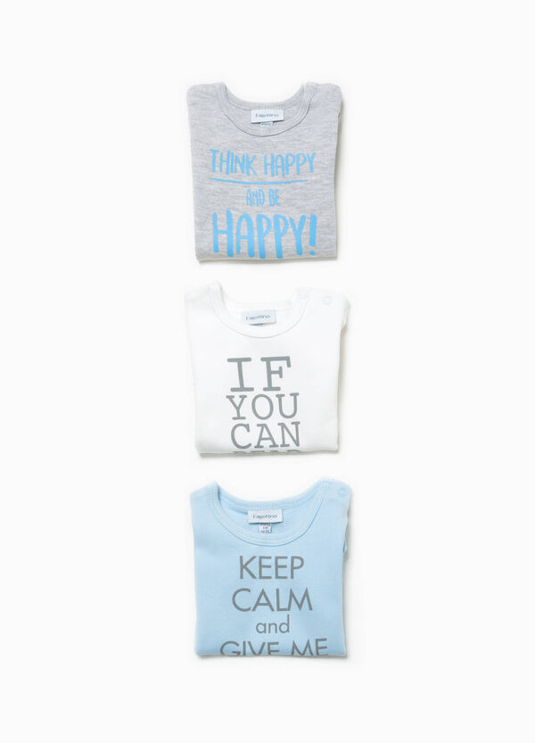 Three-pack bodysuits with lettering print | OVS