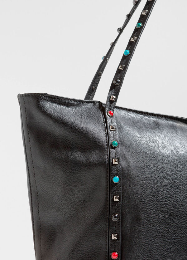 Textured shoulder bag with studs | OVS